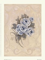 Roses Azure Framed Print