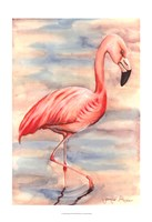 Pink Flamingo I Framed Print