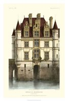 French Chateaux In Brick I Giclee