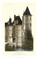 French Chateaux In Blue II Giclee