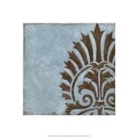 Silver Damask IV Framed Print