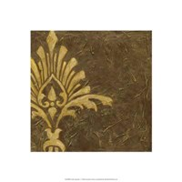 Gold Damask I Framed Print