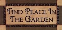 Peace In The Garden Fine Art Print