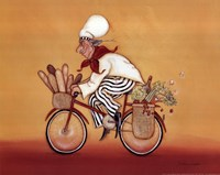 Biking Chef Fine Art Print