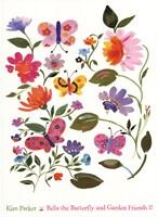 Bella The Butterfly And Garden II Fine Art Print