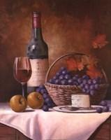 Wine & Grape I Framed Print