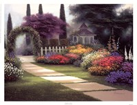 Garden Arbor Fine Art Print
