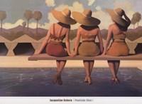 Poolside Chat Fine Art Print