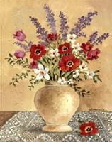 Flowers On Lace 2 Fine Art Print