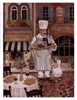Chef With Wine Fine Art Print