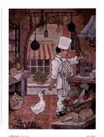 Chef With Goose Fine Art Print