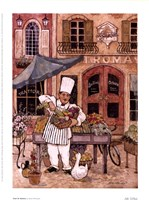 Chef At Market Framed Print