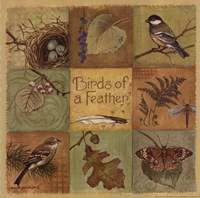 Birds of a Feather - square Fine Art Print
