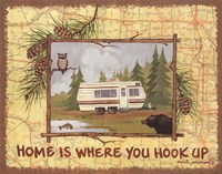 Home is Where You Hook Up Fine Art Print