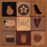 Folk Art Patch Fine Art Print