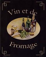 Vin Et De Fromage Framed Print