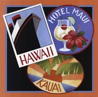 Travel-Hawaii Framed Print