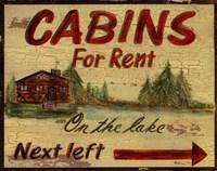 Cabin Rentals Framed Print