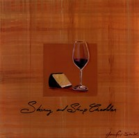 Wine Cheese III Framed Print