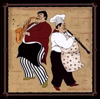 Musical Chefs II Framed Print