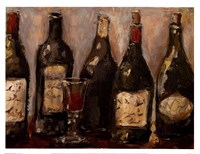 Wine Bar With French Glass Fine Art Print