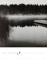 Misty Dock, Salt Spring Island Framed Print