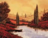Silenzio Tra I Cipressi Fine Art Print
