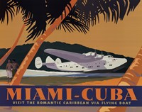 Miami-Cuba Framed Print