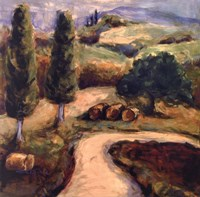 Road To Montpulciano Fine Art Print