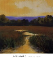 Yellow Sky Stream Fine Art Print
