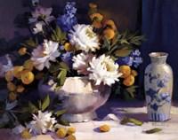 Blue And White Fine Art Print