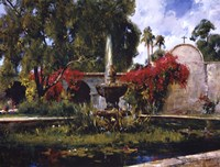 Fountain At San Juan Capistrano Fine Art Print
