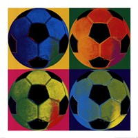 Ball Four - Soccer Framed Print