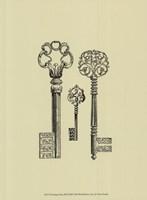 Antique Keys III Framed Print