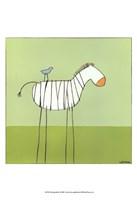Stick-Leg Zebra I Framed Print