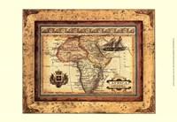 Crackled Map Of Africa Fine Art Print