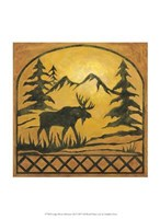 Lodge Moose Silhouette Fine Art Print