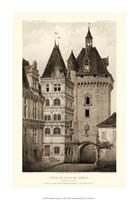 Small Sepia Chateaux VI Fine Art Print