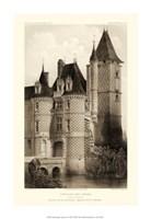 Small Sepia Chateaux VII Fine Art Print