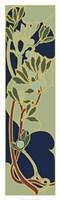 Nouveau Floral Panel I Giclee