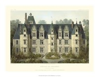 Petite French Chateaux III Framed Print