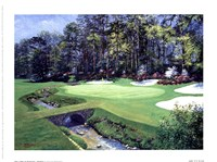 The 13th At Augusta-Azalea Fine Art Print