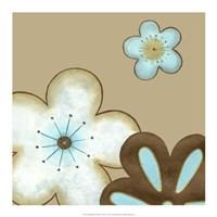 Pop Blossoms In Blue I Framed Print