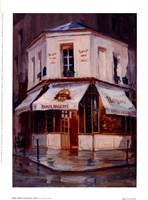 Bake Shop In The Rain, Paris Fine Art Print