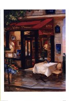 Cafe At Sunrise, Paris Fine Art Print