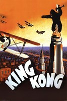 King Kong - (brown, orange, airplane) Framed Print