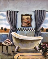 Vintage Bath II Framed Print