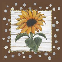 Polka Dot Sunflower Fine Art Print