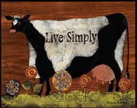 Live Simply Cow Fine Art Print