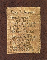 Rules To Remember Fine Art Print